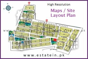 Maps / Sitplan of Landhi Town