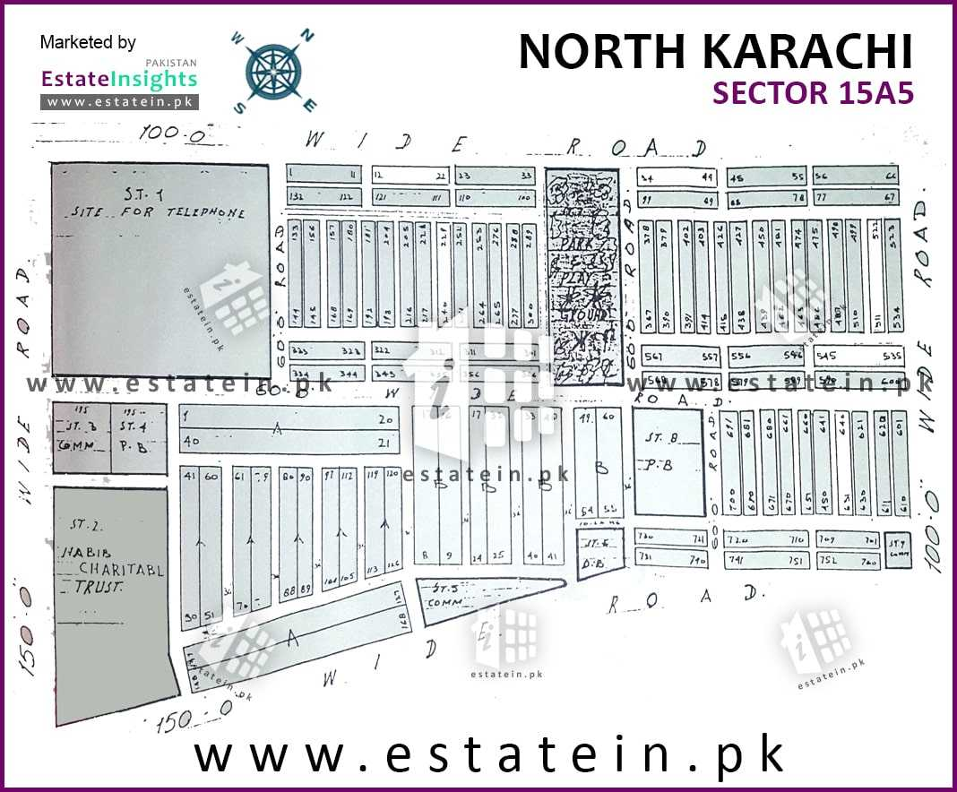 Site Plan of Sector 15-A/5 of Buffer Zone