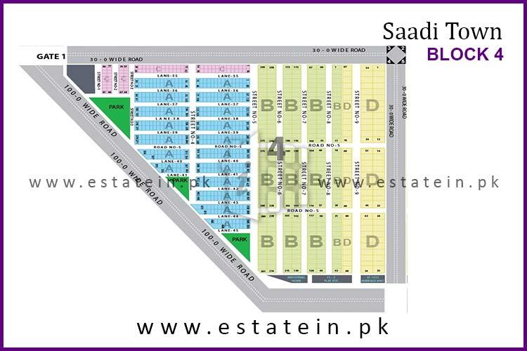 Site Plan of Block 4 of Saadi Town