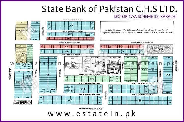 Site Plan of SBP CHS 17/A of State Bank of Pakistan CHS