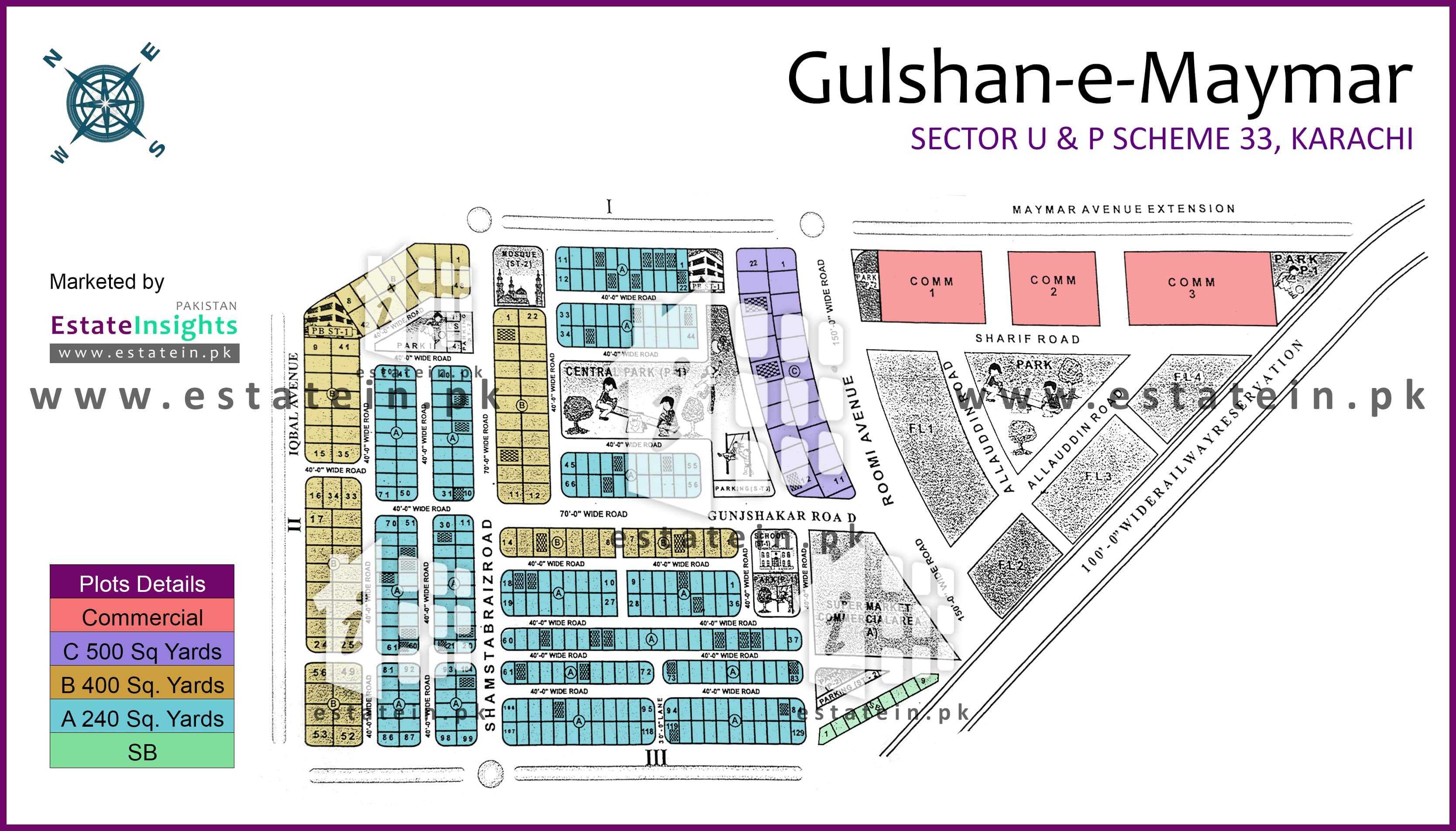 Site Plan of Block U1 of Sector U