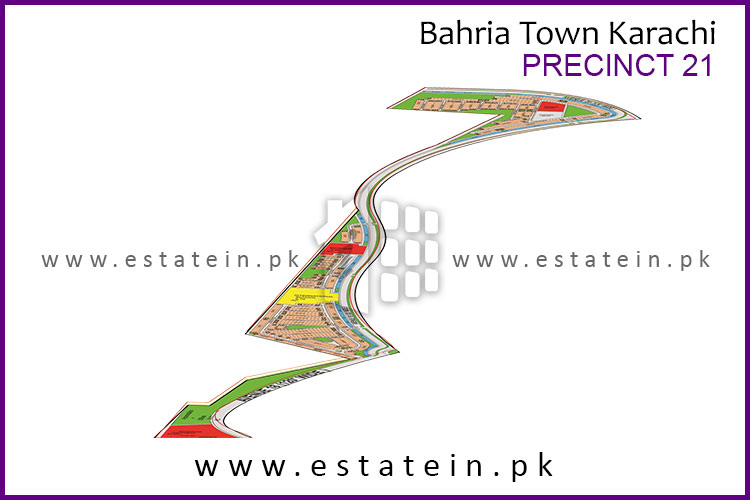 Site Plan of Precinct-21 of Bahria Town Karachi