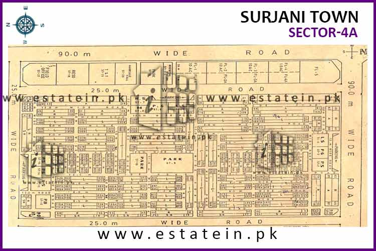 Site Plan of Sector-4 (A) of Sector-4