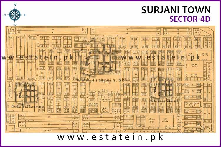Site Plan of Sector-4 (D) of Sector-4
