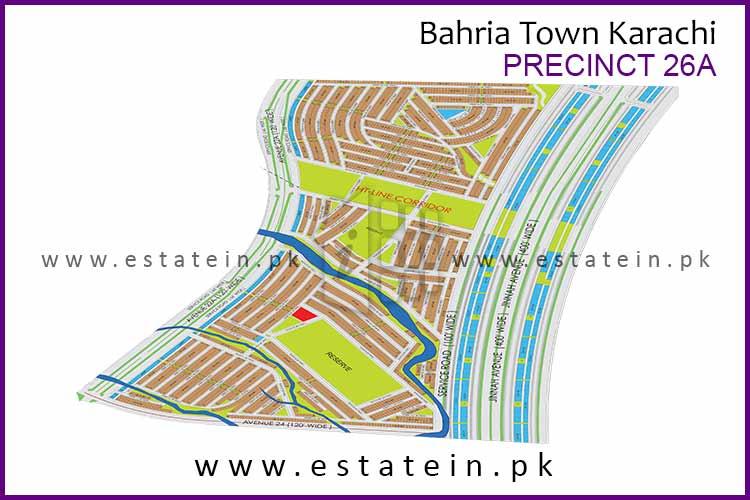 Site Plan of Precinct-26A of Bahria Town Karachi