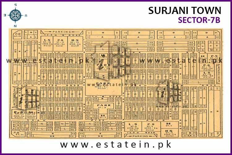 Site Plan of Sector-7 (B) of Sector-7