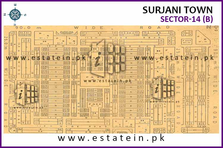 Site Plan of Sector-14 (B) of Sector-14