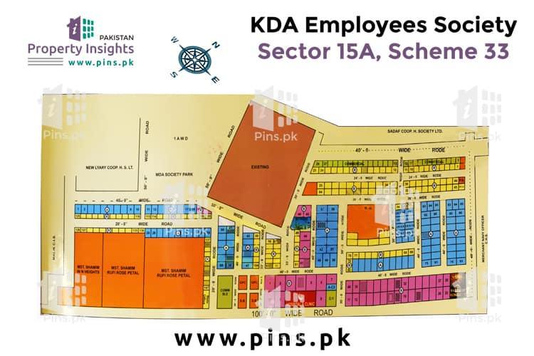 Site Plan of KDA ECHS 15A of KDA Employees Cooperative Housing Society
