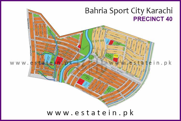 Site Plan of Precinct-40 of Bahria Sports City