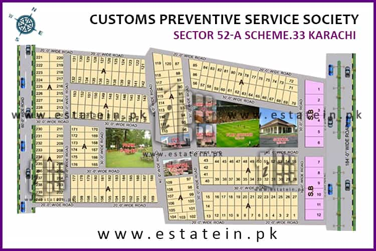 Site Plan of Customs CHS 52-A of Customs Preventive Services CHS