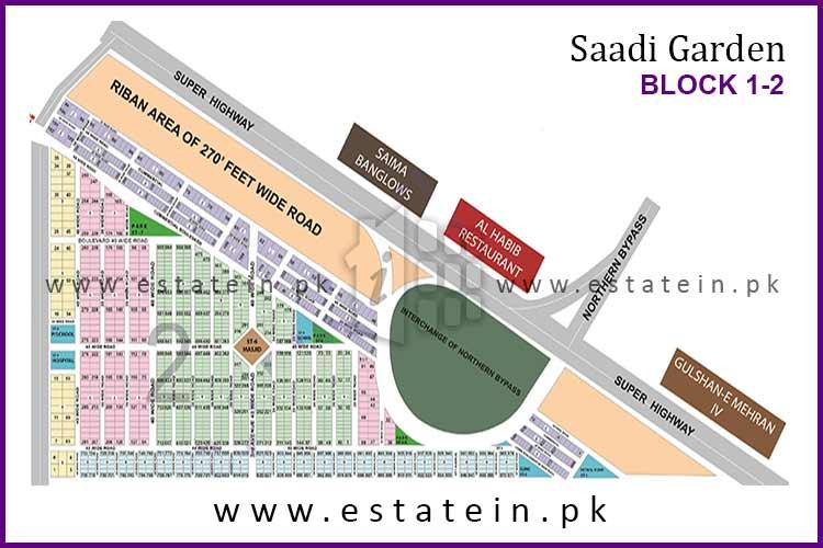 Site Plan of Block 2 of Saadi Garden