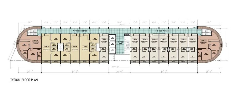 Site Plan of Liberty Clock Tower of Liberty Commercial