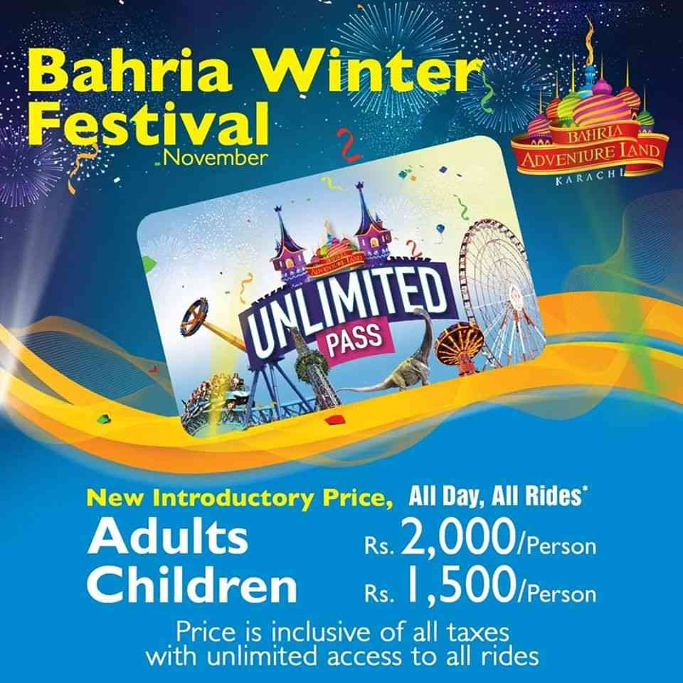 Bahria Town Karachi Winter Festival in Bahria Theme Park at Nov-2019