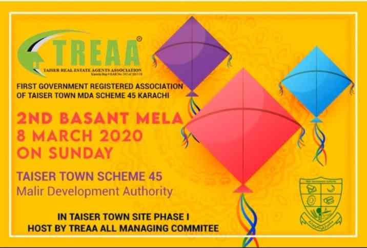 2nd Basant Festival on 8 Mar 2020 by TREAA Taiser Town Karachi