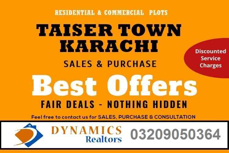 Best Offers - Sale & Purchase Taiser Town Plots