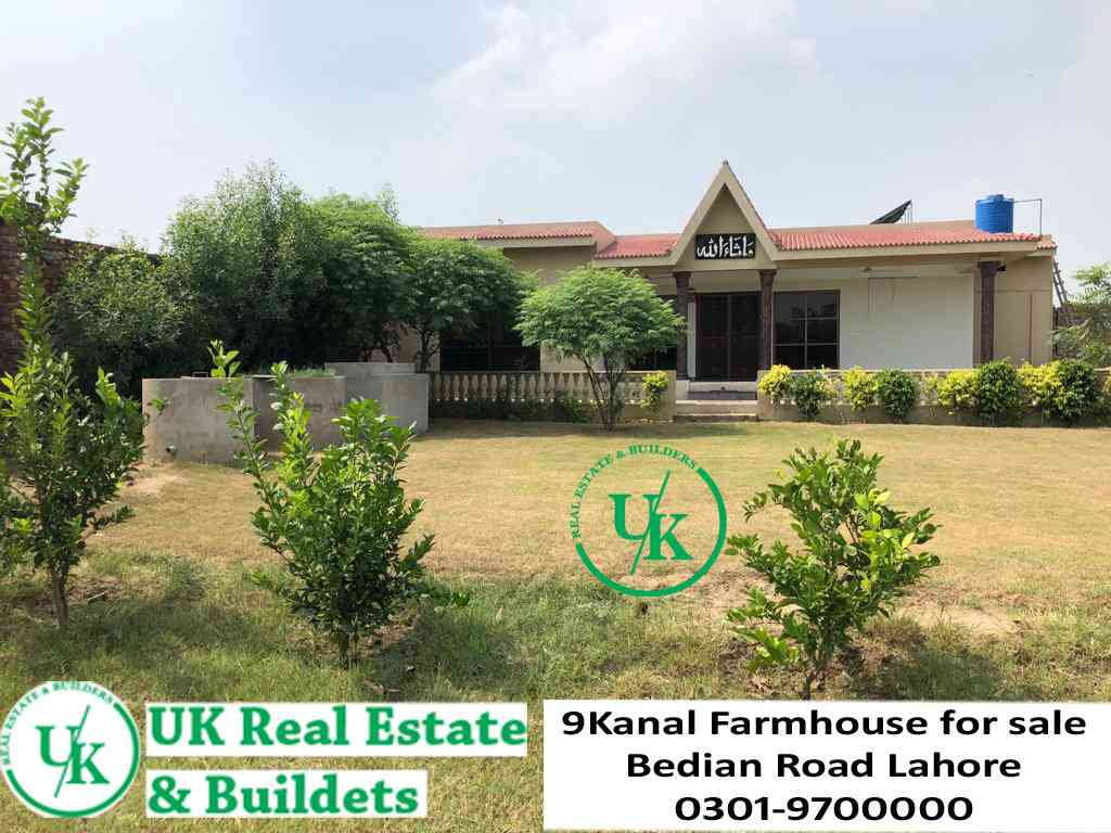 9 Kanal Farmhouse for sale  Bedian Road Lahore