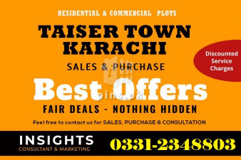 Best Rate of Plots in Taiser Town Scheme 45