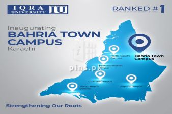 Iqra University Inaugurating its Campus in Bahria Town Karachi on 30th Dec 20