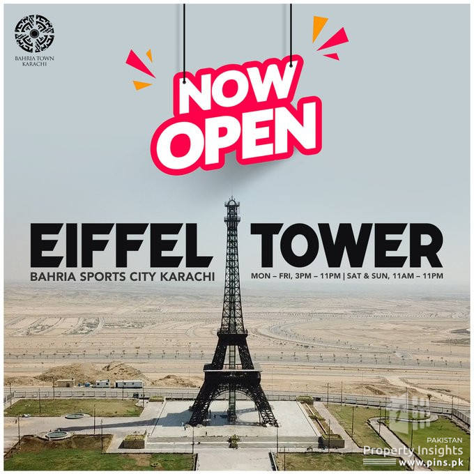Bahria Town Karachi | Now Open Eiffel Tower