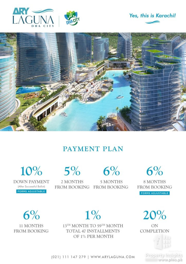 Payment Plan of ARY Laguna DHA City announced