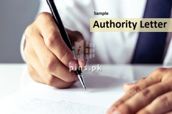 Sample Authority Letter in Pakistan to collect Property Documents