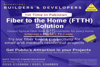 Optical Fiber Connectivity for Real Estate Projects in Karachi (FTTH)