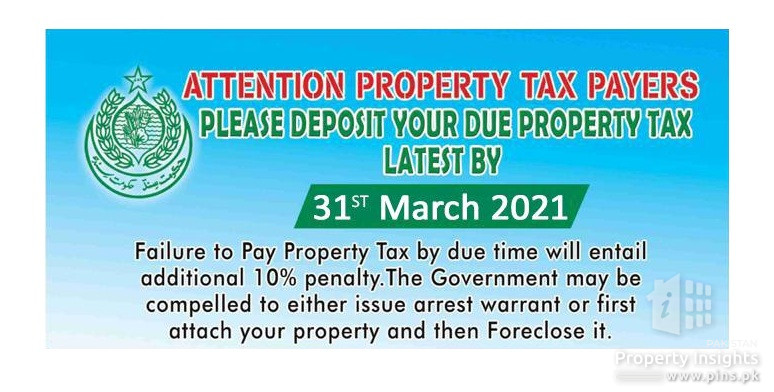 Pay your due Property Taxes before 31st March 2021 to avoid penalties