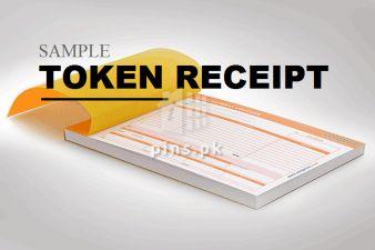 Sample Conditional Token Receipt