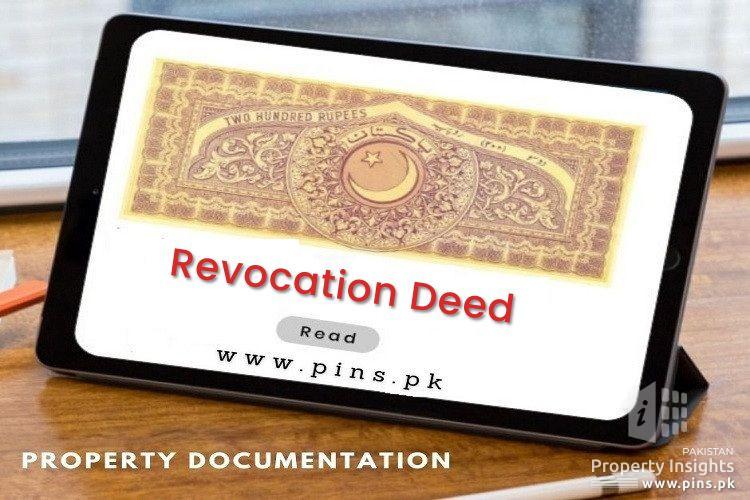 Sample Revocation Deed Format in Pakistan