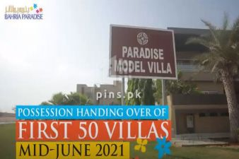 Possession Handing Over of First 50 Villas of Bahria Paradise Karachi by Mid June 2021