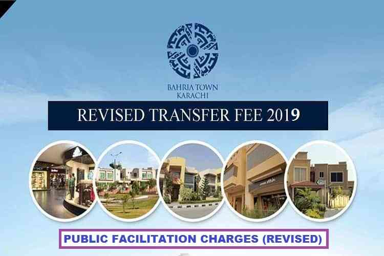 BAHRIA TOWN KARACHI REVISED TRANSFER FEE 2019