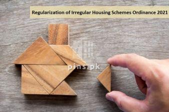The Punjab Commission for Regularization of Irregular Housing Schemes Ordinance 2021