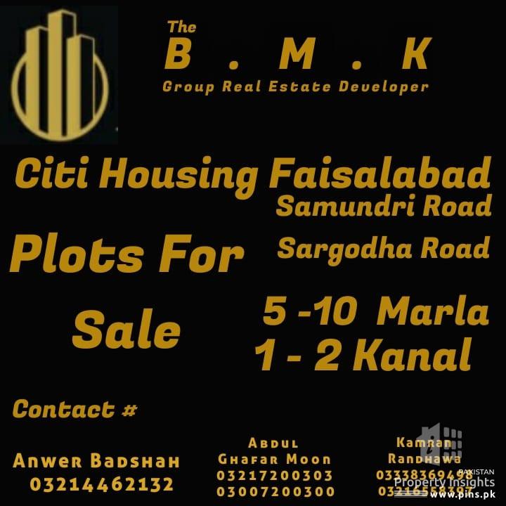 Citi Housing Faisalabad - Plot Sales & Purchase