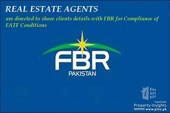 Real Estate Dealers are directed by FBR to share client details for compliance of FATF Terms