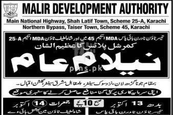Auction of Commercial Plots in Taiser Town Scheme-45 an Shah Latif Town Scheme-25A by MDA