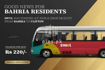 SWVL Started AC Pick and Drop Service from Bahria Town Karachi to Clifton