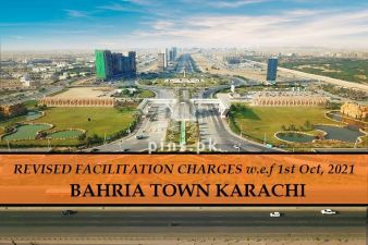 Revised new facilitation Charges of Bahria Town Karachi wef 1st October 2021