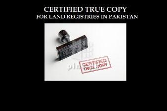 Certified True Copy (CTC) of Property Land Registries in Pakistan