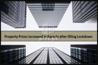 Karachi witnesses upto 15% increase in property rates after lifting lockdown.