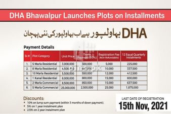 DHA Bhawalpur launched new plots on easy installment plan