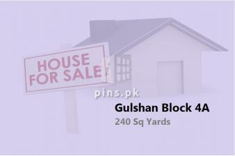 240 yards Corner House for Sale in Gulshan-e-Iqbal Block 4A