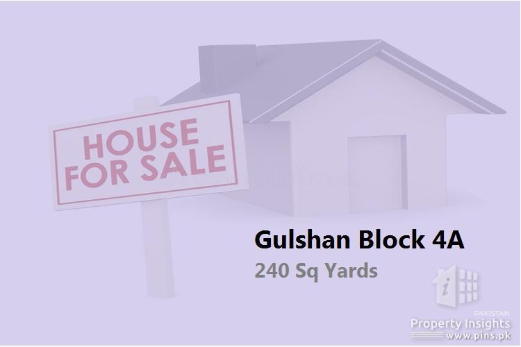 240 yards Corner House for Sale in Gulshan-e-Iqbal Block 4A
