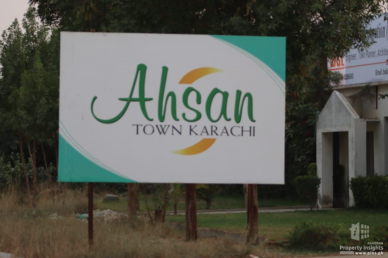 150 Sq yards commercial Plot for sale in Ahsan Town Karachi