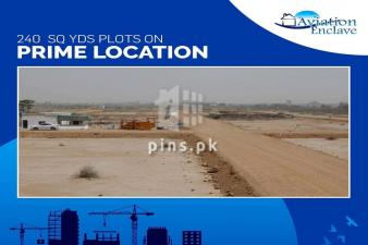 240 Sq yds Plot for sale in Aviation Enclave