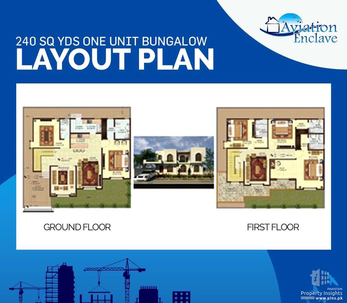 240 Sq yds Plot for sale in Aviation Enclave