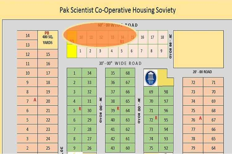 172 Sqy Plot for Sale in Corniche CHS Sector 17/A Scheme 33