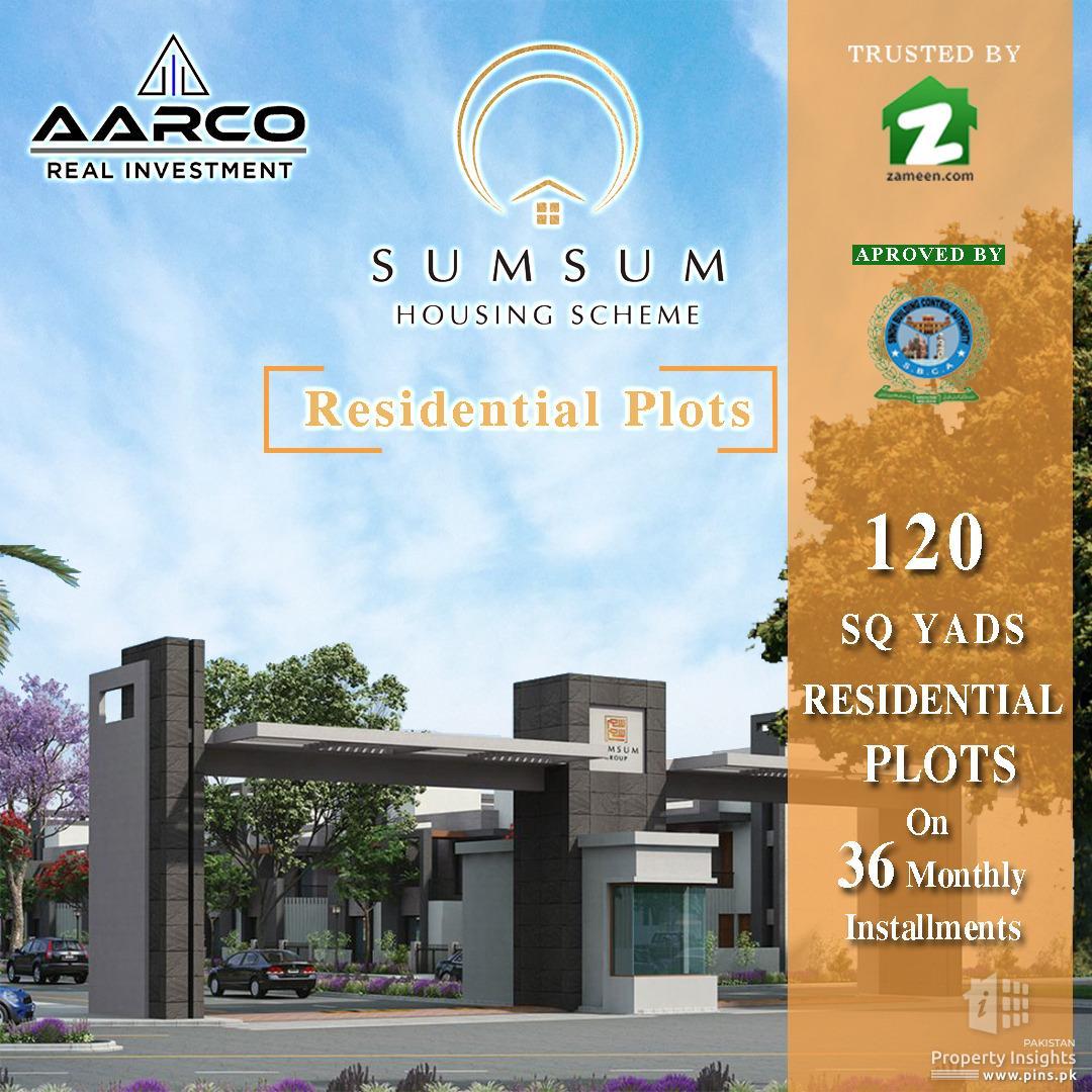 120 yards plot for sale in SumSum Housing Scheme