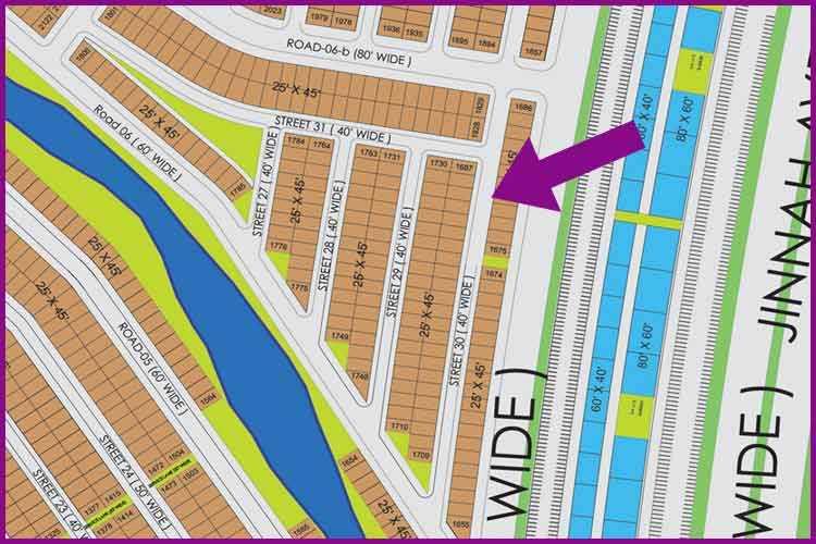 125 Sq. Yards Plot for sale in Precinct 26A near Jinnah Avenue