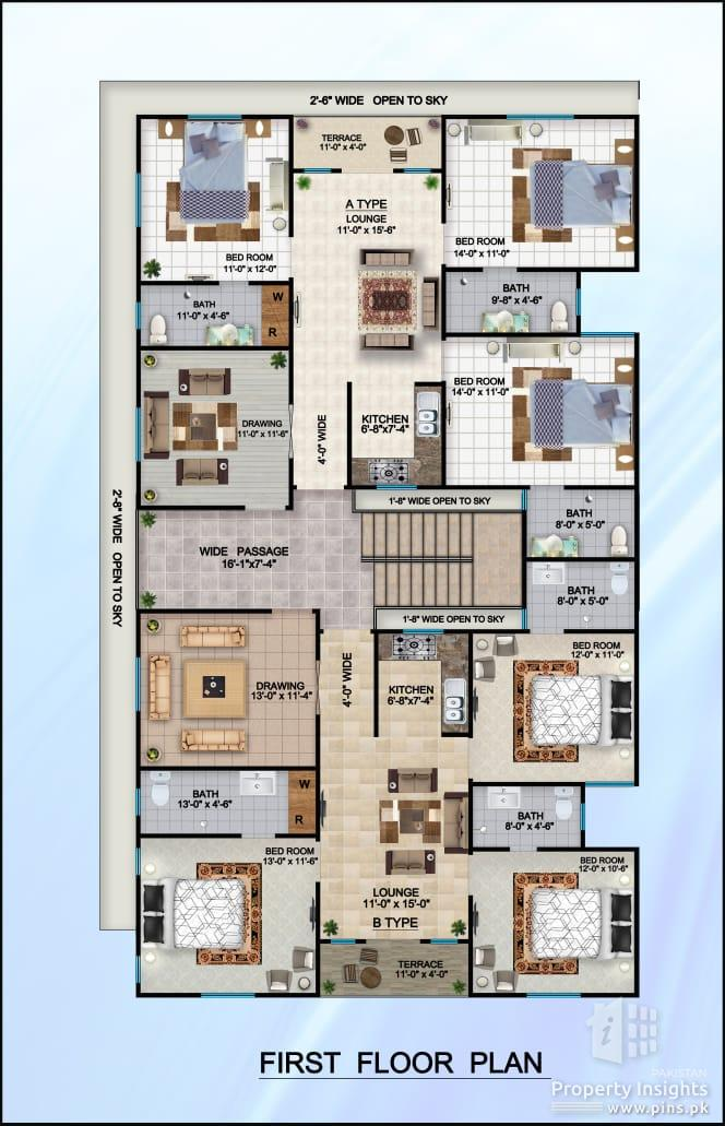 1300 sqft First Floor Flat for Sale in Sector 15 A KDA Scheme 33