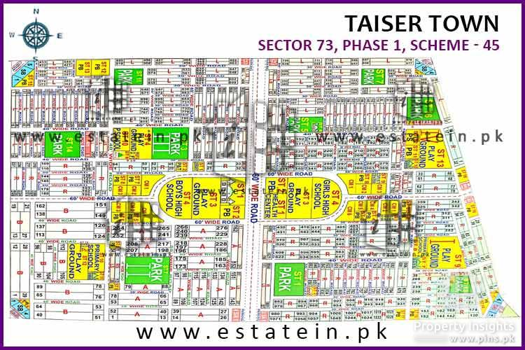 Sector 73/4 Taiser Town 80 Sq yards plot for sale